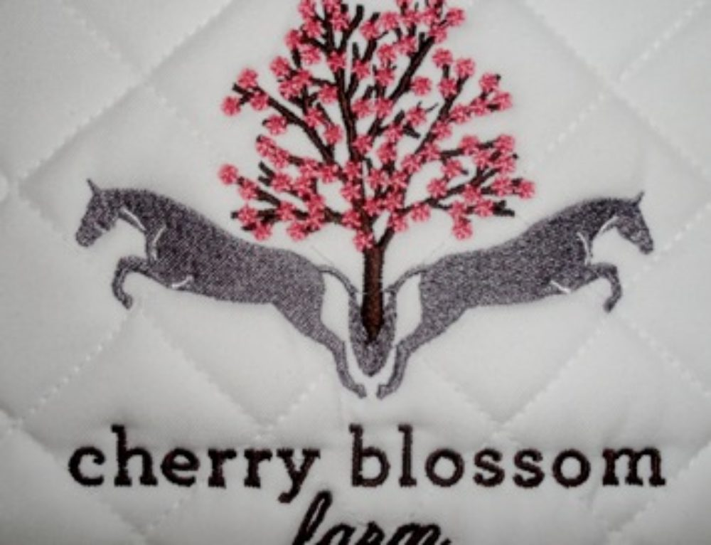 cherry blossom farm saddle pad